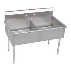 Elkay SSP - B2C24X24X - 27 1/2 x 51 in Two Compartment Utility Sink image