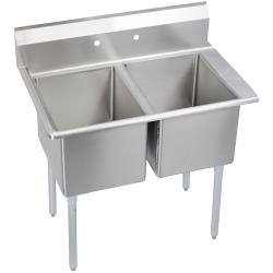 Elkay - E2C24X24-R-24X - 76 1/2 in Two Compartment Sink w/ Right Drainboard image