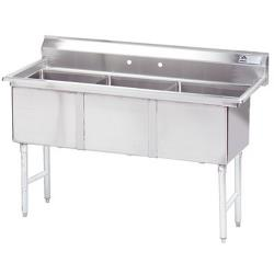 Advance Tabco - FC-3-2424-X - 24 in x 24 in x 14 in 3-Compartment Sink w/ No Drainboards image
