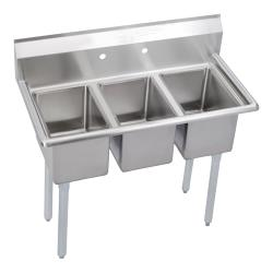 Elkay SSP - 3C10X14-0X - Deli 39 in Three Compartment Sink image