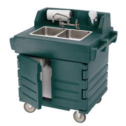 Cambro - KSC402192 - Granite Green CamKiosk® Hot/Cold Mobile Hand Sink image