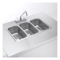Crown Verity - CV-PHS-3C - 3 Comp Portable Hand Sink image