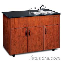Ozark River - ADAVC-LM-SS3N - Advantage Series Triple Stainless/Laminate/Cherry Portable Hand Sink image