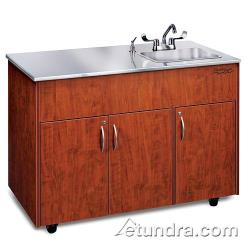 Ozark River - ADAVC-SS-SS1DN - Silver Advantage Series Single Deep Stainless/Cherry Portable Hand Sink image