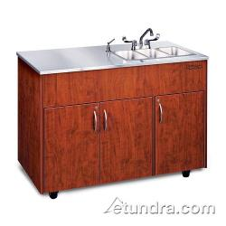 Ozark River - ADAVC-SS-SS3N - Silver Advantage Series Triple Stainless/Maple Portable Hand Sink image