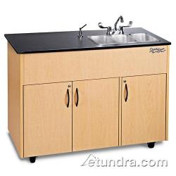 Ozark River - ADAVM-LM-SS3N - Advantage Series Triple Stainless/Laminate/Maple Portable Hand Sink image