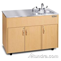 Ozark River - ADAVM-SS-SS1N - Silver Advantage Series Single Stainless/Maple Portable Hand Sink image
