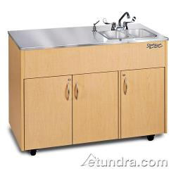 Ozark River - ADAVM-SS-SS2N - Silver Advantage Series Double Stainless/Maple Portable Hand Sink image