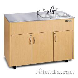 Ozark River - ADAVM-SS-SS3N - Silver Advantage Series Triple Stainless/Maple Portable Hand Sink image
