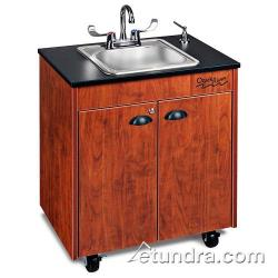 Ozark River - CHSTC-LM-SS1N - Lil Premier Series Single Stainless/Laminate/Cherry Portable Hand Sink image