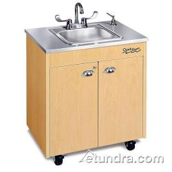 Ozark River - CHSTM-SS-SS1N - Lil Premier Series Single Stainless/Maple Portable Hand Sink image