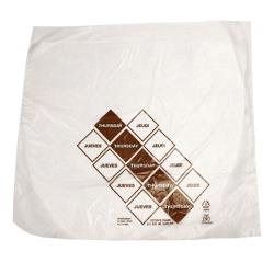 "DayMark - 110919 - 10"" x 8.5"" Saddlepack Brown Portion Bag image"