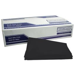 "Fortune Plastic - BCX48 - 40"" x 46""-1.25 Mil Black Low Density Can Liner image"