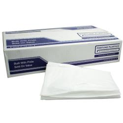 "Fortune Plastic - WH4046XH - 40"" x 46""- 1.25 Mil White Low Density Can Liner image"