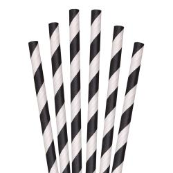 Aardvark - 61621009 - 10 in Black Stripe Giant Paper Straws image