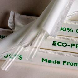 Eco-Products - EP-ST770 - 7 3/4 in Compostable Clear Wrapped Straws image