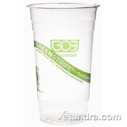 Eco-Products - EP-CC28-GS - 28 oz GreenStripe® Cold Corn Cups image
