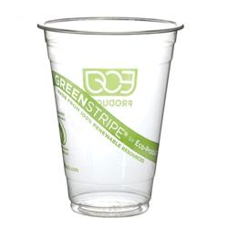 Eco-Products - EP-CC32-GS - 32 oz GreenStripe® Cold Corn Cups image