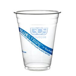 Eco-Products - EP-CR20 - 20 oz Recycled BlueStripe™ PET Cold Cups image