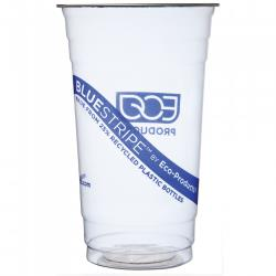 Eco-Products - EP-CR24 - 24 oz Recycled BlueStripe™ PET Cold Cups image