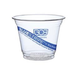 Eco-Products - EP-CR9 - 9 oz Recycled BlueStripe™ PET Cold Cups image