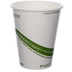Eco-Products - EP-BHC8-GS - 8 oz GreenStripe® Hot Cups image