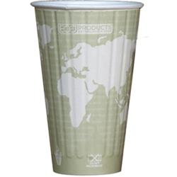 Eco-Products - EP-BNHC16-WD - 16 oz World Art™ Insulated Hot Cups image