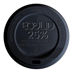 Eco-Products - EP-HL16-BR - 10-20 oz Black EcoLid® Recycled Content Hot Cup Lids image