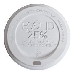 Eco-Products - EP-HL16-WR - 10-20 oz White EcoLid® Recycled Content Hot Cup Lids image