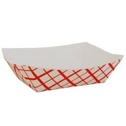 Commercial - 0417 - 2 lb Red Plaid Food Tray image