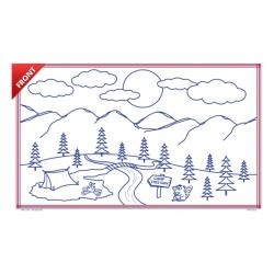 KNG - 2233 - 8 1/2 in x 14 in Camping Coloring Sheets image