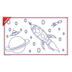 KNG - 2234 - 8 1/2 in x 14 in Space Race Coloring Sheets image
