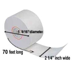 Paper Roll Products - T21470I - 2 1/4 in x 70 ft Thermal Receipt Paper image