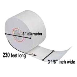 Paper Roll Products - T318230J - 3 1/8 in x 230 ft Thermal Receipt Paper image