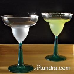 EMI Yoshi - EMI-MGG12GR - 12 oz Clear Margarita Glass w/ Green Base image
