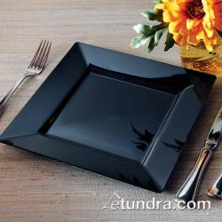 "EMI Yoshi - EMI-SP9 - 9 1/2"" Square Black Dinner Plate image"