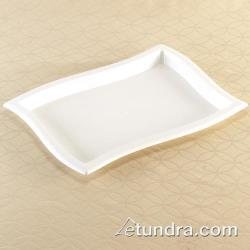 "EMI Yoshi - EMI-WT1014 - 10"" x 14"" Rectangle Wave White Tray image"