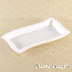 "EMI Yoshi - EMI-WT612 - 6"" x 12"" Rectangle Wave White Tray image"