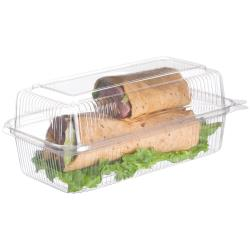 "Eco-Products - EP-LC96 - 9.5"" PLA Hoagie Clamshells image"
