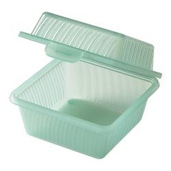 "GET Enterprises - EC-08-1-JA - Eco-Takeouts Jade 4 3/4"" 1-Comp Container image"