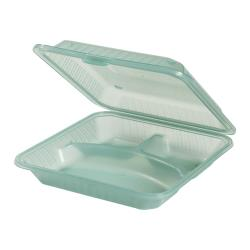 GET Enterprises - EC-12-1-JA - Eco-Takeouts Jade 3-Comp Container image