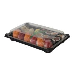 "Eco-Products - EP-SH3-CPK - 6"" x 9"" PLA Sushi Containers with  Lids image"