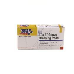 First Aid Only - 3-001-10 - 3 in x 3 in Gauze Pads image