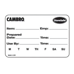 Cambro - 23SLB6250 - 2 in x 3 in StoreSafe® Food Rotation Label image
