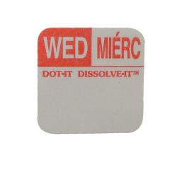 Commercial - Dissolve-It 1 in x 1 in Wednesday Label image