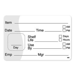 DayMark - 110115 - MoveMark 2 in x 3 in Use By/Shelf Life Label image