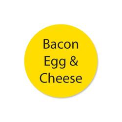 DayMark - 111258 - DuraMark 1 in Round Bacon Egg and Cheese Label image