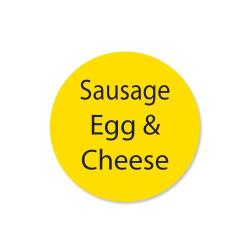 DayMark - 111259 - DuraMark 1 in Round Sausage Egg and Cheese Label image