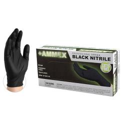 Ammex Corporation - ABNPF42100 - Small Black Nitrile Disposable Gloves image