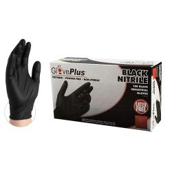 Ammex Corporation - GPNB42100 - Small GlovePlus® Black Nitrile Disposable Gloves image